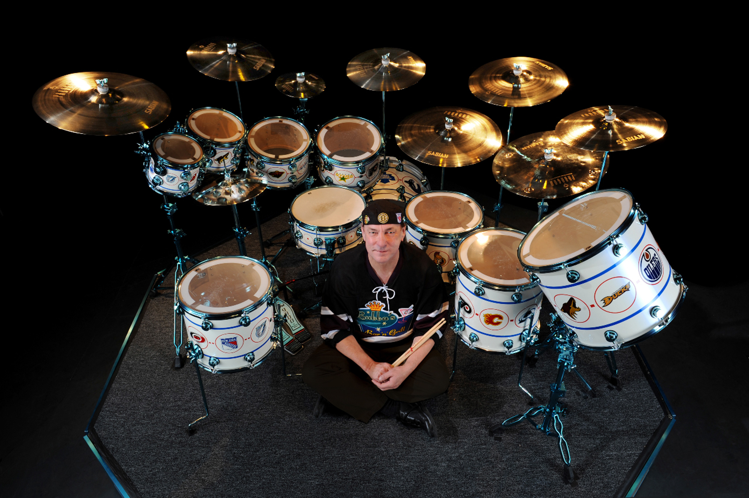 Neil Peart Hockey Song Drums