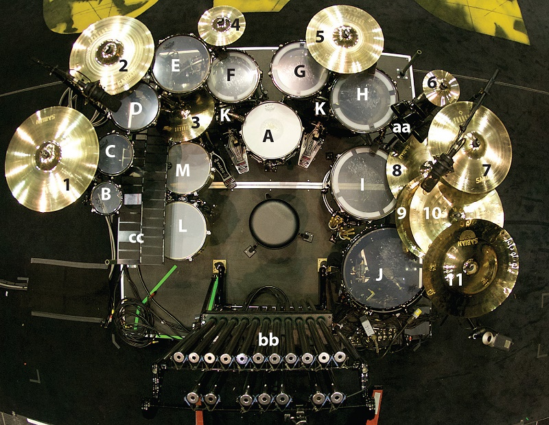 Drums DW Shells Made From Romanian Bog Oak With Black Chrome Finish