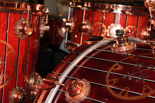 Neil Peart's Steampunk tour kit at Just Drums