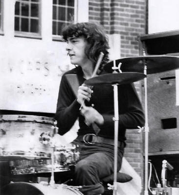 Neil Peart with J.R. Flood, 1970