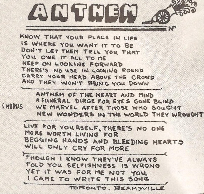 Fly By Night Lyrics Sheets