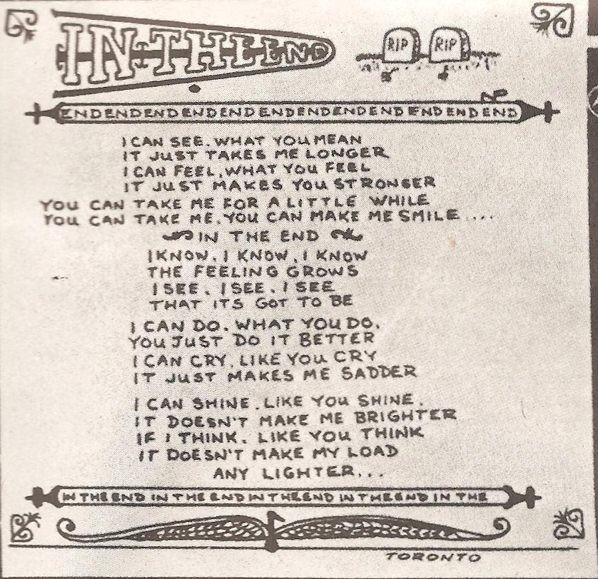 in the end lyrics: