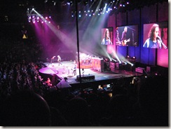 Rush performing at the ACC