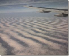 Flying in to Detroit - sand dune clouds