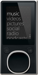 Zune 8 GB black player