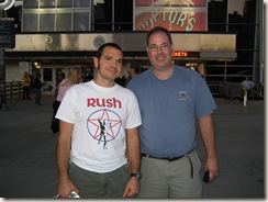 Ed Stenger (webmaster of rushisband.com) and me in front of the ACC
