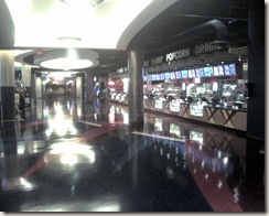 Inside of AMC theater