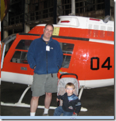 Drew and I in front of a Jet Ranger