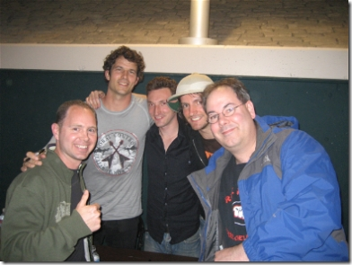 Fiction Plane and Fans: L to R: Dale, Pete Wilhoit, Seton Daunt, Joe Sumner, AndyO