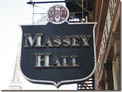 Picture of Massey Hall sign