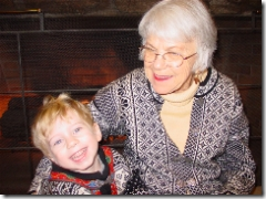 Cameron and his Great Grandma Olson in 2002
